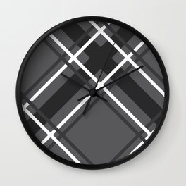 Jumbo Scale Men's Plaid Pattern Wall Clock