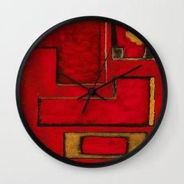 Detached, Abstract Shapes Art Wall Clock