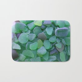 Green Beach Glass Assortment Bath Mat