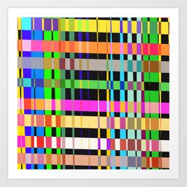 inclined coloured stripes Art Print