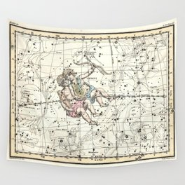 Gemini Constellation Celestial Atlas Plate 15 - Alexander Jamieson Wall Tapestry