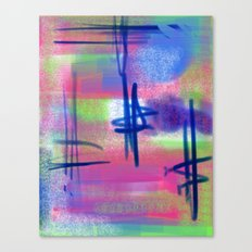 Blue Scribble Background Canvas Print