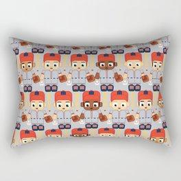 Baseball Orange and Grey - Super cute sports stars Rectangular Pillow