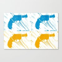 guns Canvas Prints featuring Guns by Chloe Bromfield
