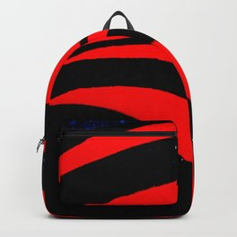 Abstract Red Backpack