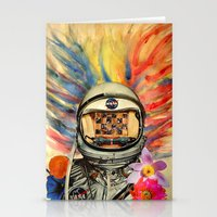 nasa Stationery Cards featuring NASA Messed Me Up by Collage Calamity