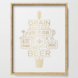 Beer Brewing Explained Serving Tray