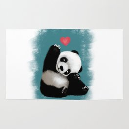 Panda Love (Color) Rug