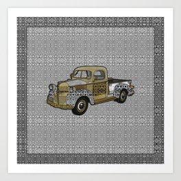 Dad's Old Truck Art Print