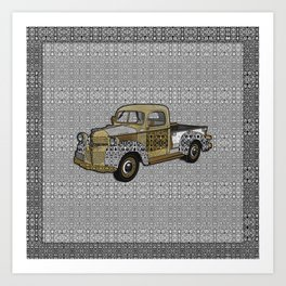 Dad's Old Truck Art Print