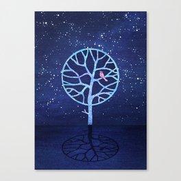 Nightingale tree Canvas Print