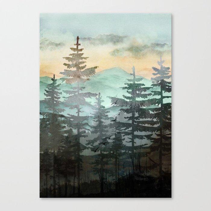 Pine Trees Leinwanddruck