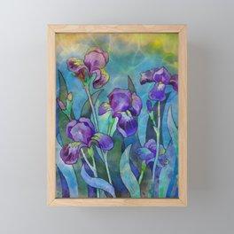 Fantasy Irises Framed Mini Art Print