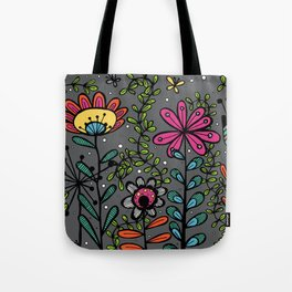 Weird and wonderful (Garden) - fun floral design, nature, flowers Tote Bag