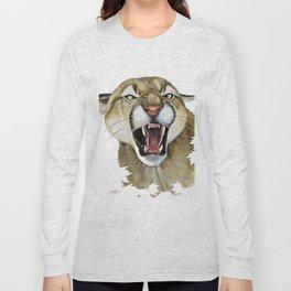 snarling cougar Long Sleeve T-shirt