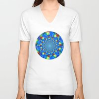 kaleidoscope V-neck T-shirts featuring Kaleidoscope  by haroulita