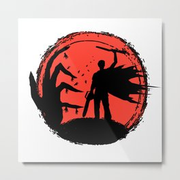 Ash Hands Metal Print