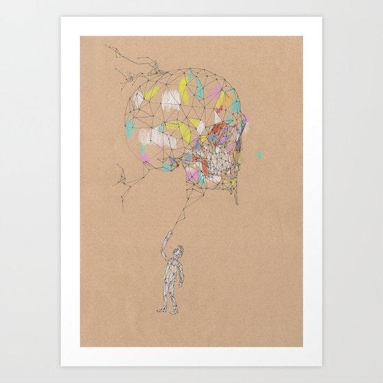 Wired Skull Art Print