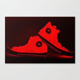 Xray Tennies Red Canvas Print