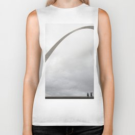 Gateway Arch and people Biker Tank