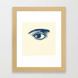 I see you. Navy Blue on Cream Framed Art Print