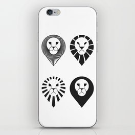 animal PICTOGRAMS vol. 2 - LIONS iPhone Skin
