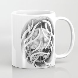 Swirly Skull Coffee Mug