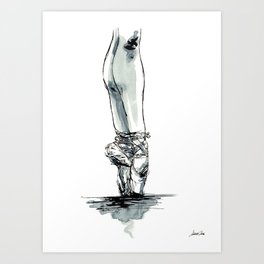 Ballet Dancer On Pointe Shoes 1 Art Print