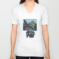 aliens V-neck T-shirts featuring FEMALE ALIENS  by Nicholas Price