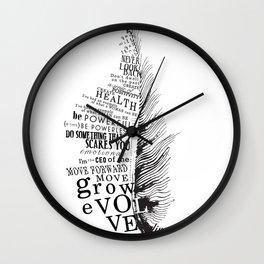 Inspirational Feather Wall Clock