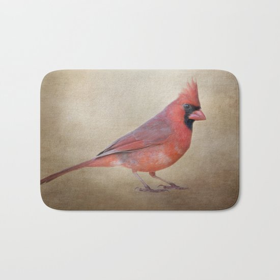 The Red Cardinal Bath Mat