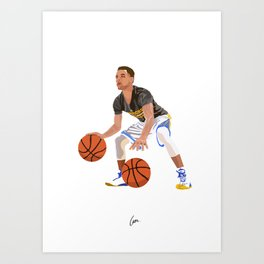 Steph Curry - NBA CUBISM Art Print