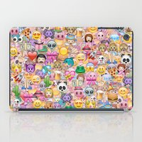 emoji iPad Cases featuring emoji / emoticons by Marta Olga Klara