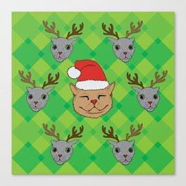 Christmas Kittens Canvas Print
