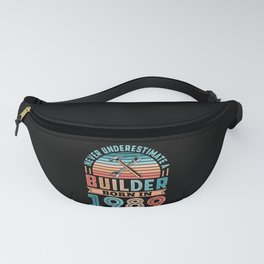Builder born in 1989 40th Birthday Gift Building Fanny Pack