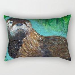 Otter Glow Rectangular Pillow