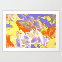 Spring Into Summer - Lavender, Orange, Yellow, and White Art Print