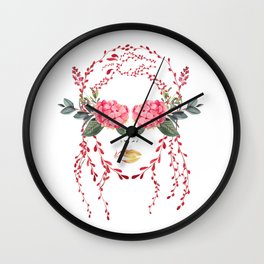 Girl With A Pretty Face Wall Clock