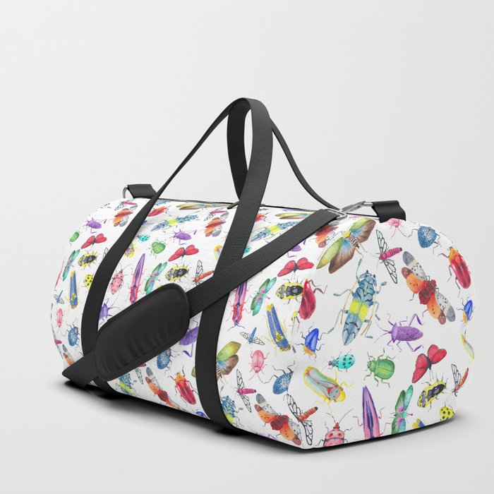 Colorful Bugs and Beetles Collection Duffle Bag