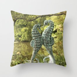 Seahorse union Throw Pillow