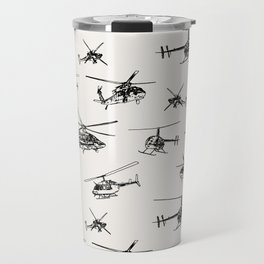 Helicopters on Linen White Travel Mug
