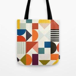 mid century retro shapes geometric Tote Bag