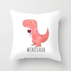 Winosaur Throw Pillow