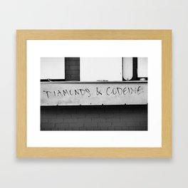 Diamonds & Codeine Framed Art Print