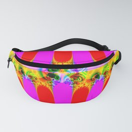 Fractal Pattern Colorful Fanny Pack