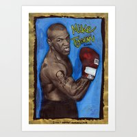 mike tyson Art Prints featuring Mike Tyson by Ibbanez
