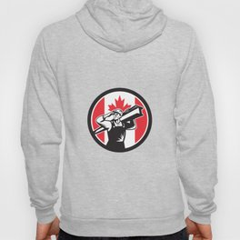 Canadian Construction Worker Canada Flag Icon Hoody