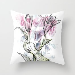 BW DAY LILY Color Splash 1 Throw Pillow