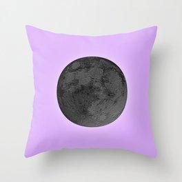 BLACK MOON + LAVENDER SKY Throw Pillow