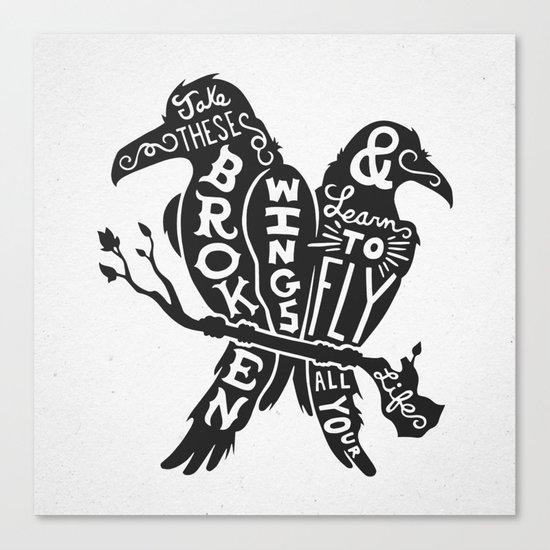 Blackbirds Singing Canvas Print
